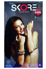 Skore Dots...Dotted Condoms - Pack of 3